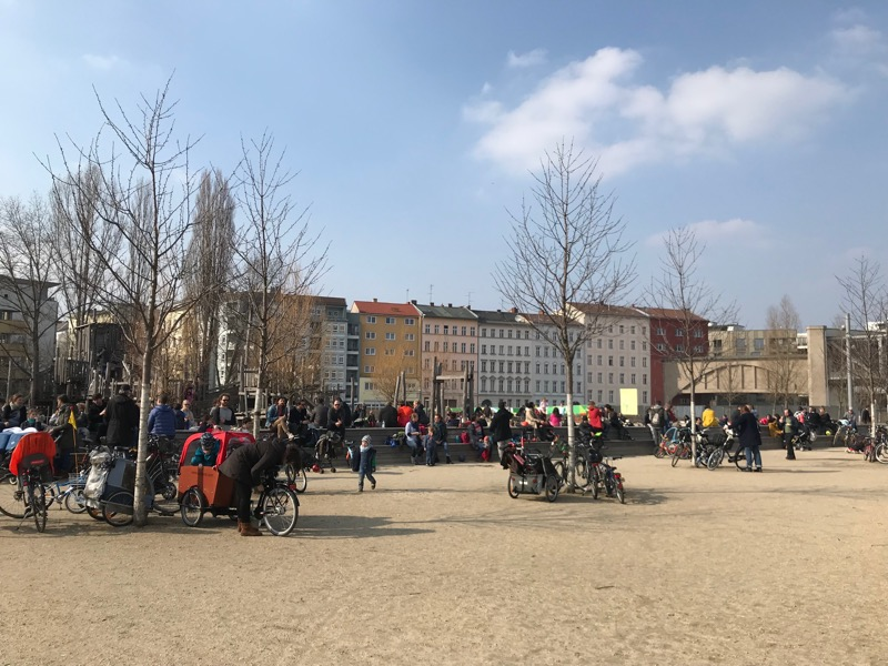 Berlin na rowerze park